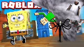 SPONGEBOB NEEDS TO ESCAPE FROM THE MONSTERS IN THE ROBLOX!!