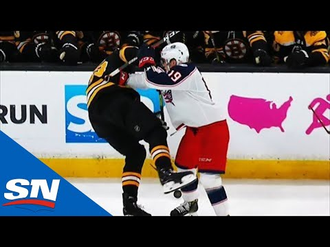 Ryan Dzingel Somehow Takes Down Zdeno Chara With Huge Hit Near Benches