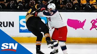 Ryan Dzingel may not have the size advantage on Zdeno Chara, but he...