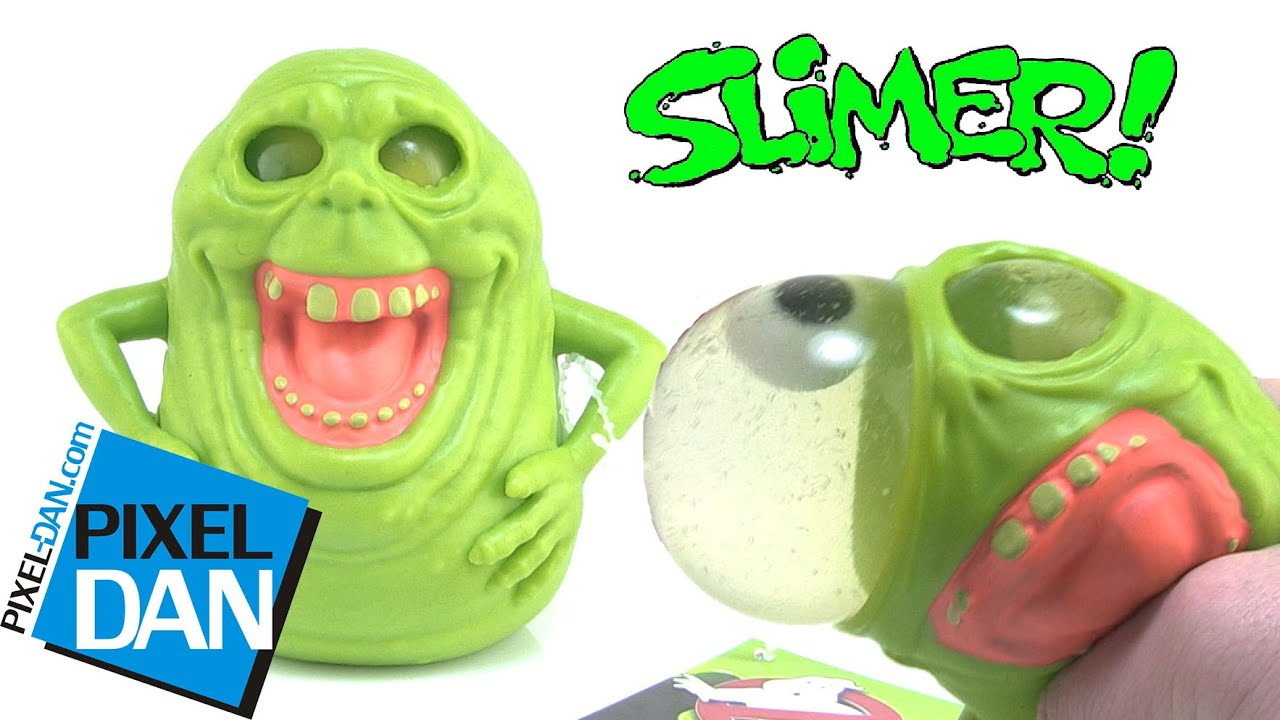 Squishy Toys With Slime In It : Ghostbusters Slimer Squishy Eyeball Popping Slime Ghost Toy Video Review - YouTube