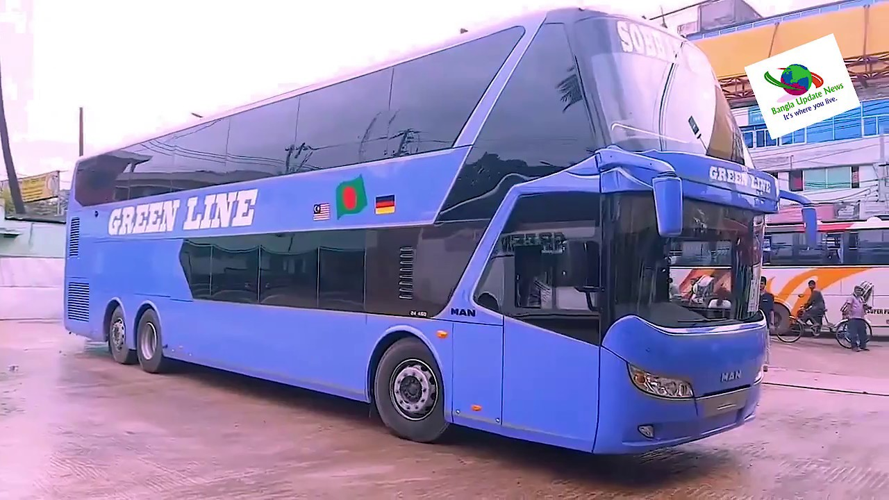 Green line bus in Bangladesh🚌 Luxurious Sleeper Coach Volvo