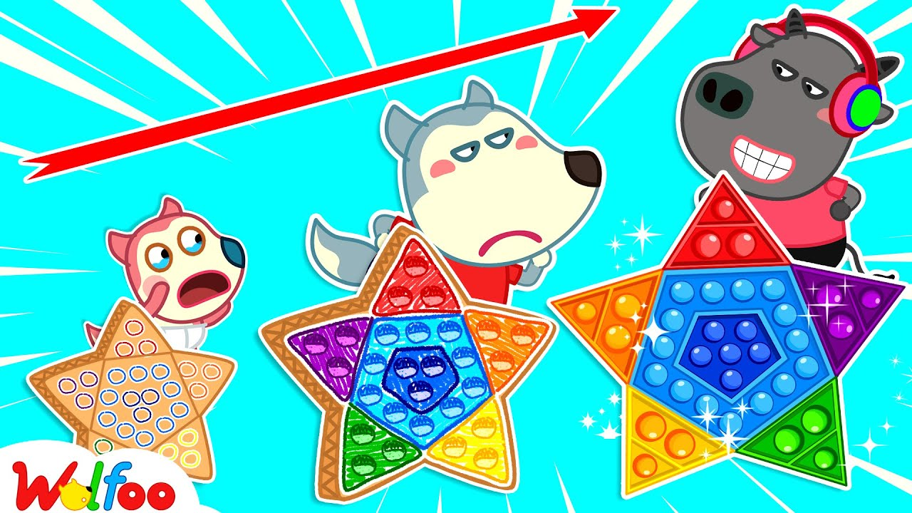 Wolfoo Plays Pop It Challenge with His Friends - Wolfoo Makes DIY Pop It | Wolfoo Channel