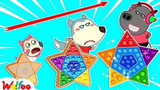 Wolfoo Plays Pop It Challenge with His Friends - Wolfoo Makes DIY Pop It  Wolfoo Channel