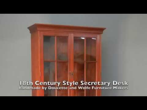 Secretary Desk By Doucette And Wolfe Furniture Makers Desk And Bookcase