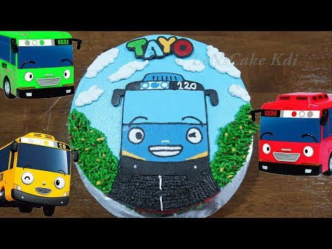 Happy Birthday Cake Tayo the little bus for Kids