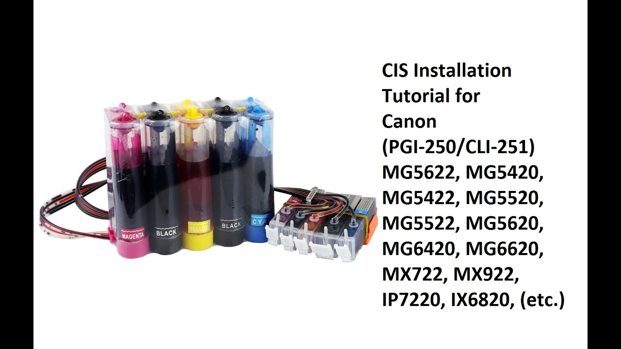 Canon 250 251 Cartridge Cis Installation Mx922 Youtube Ink Pgi 29 Photo Magenta