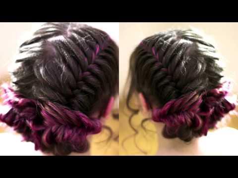 Низкие пучки ПРОЧНАЯ ПРИЧЁСКА из кос Рыбий хвост Hairstyle tutorial