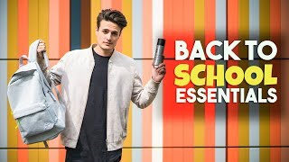5 Back To School Essentials for High School & College | Mens Fashion Haul | BluMaan 2017