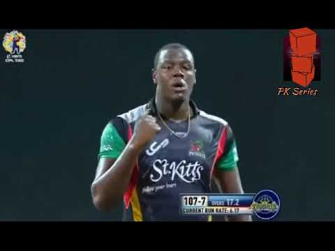 Pollard vs Carlos Brathwaite sends him off with Dab Move Caribbean Premiere League 2017