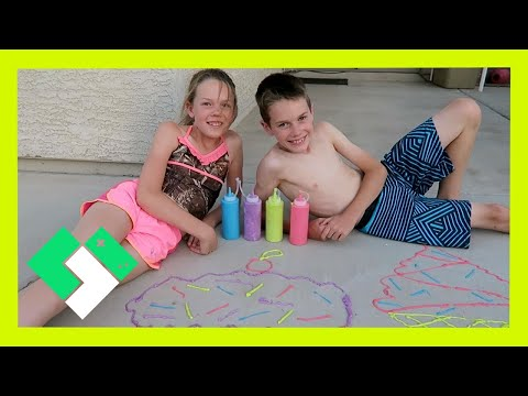 PUFFY PAINT SIDEWALK CHALK (Day 1523)