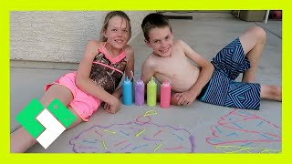 PUFFY PAINT SIDEWALK CHALK (Day 1523) | Clintus.tv