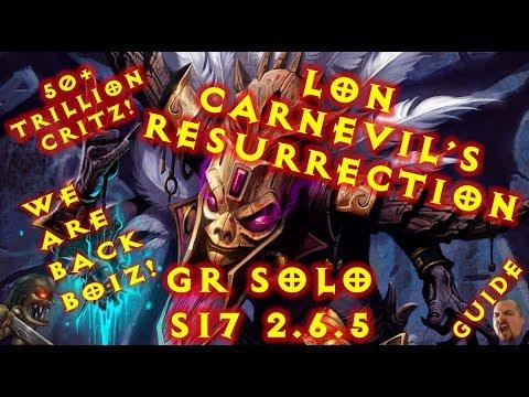 Diablo 3 S17 WD LoN CarnEvil Resurrection ! GR Solo 2.6.5