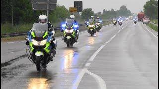 Polizeieskorte Bundespräsident Steinmeier im tiefsten Ostfriesland