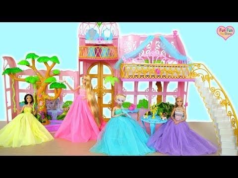 Putri Barbie Kastil Rumah Kaca Yang Indah : Mainan Barbie