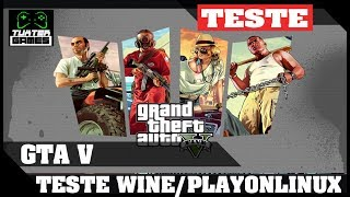 GTA V no Linux teste Wine staging