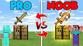 Minecraft NOOB vs. PRO : SUPER CRAFTING SWORD in Minecraft (Compilation)