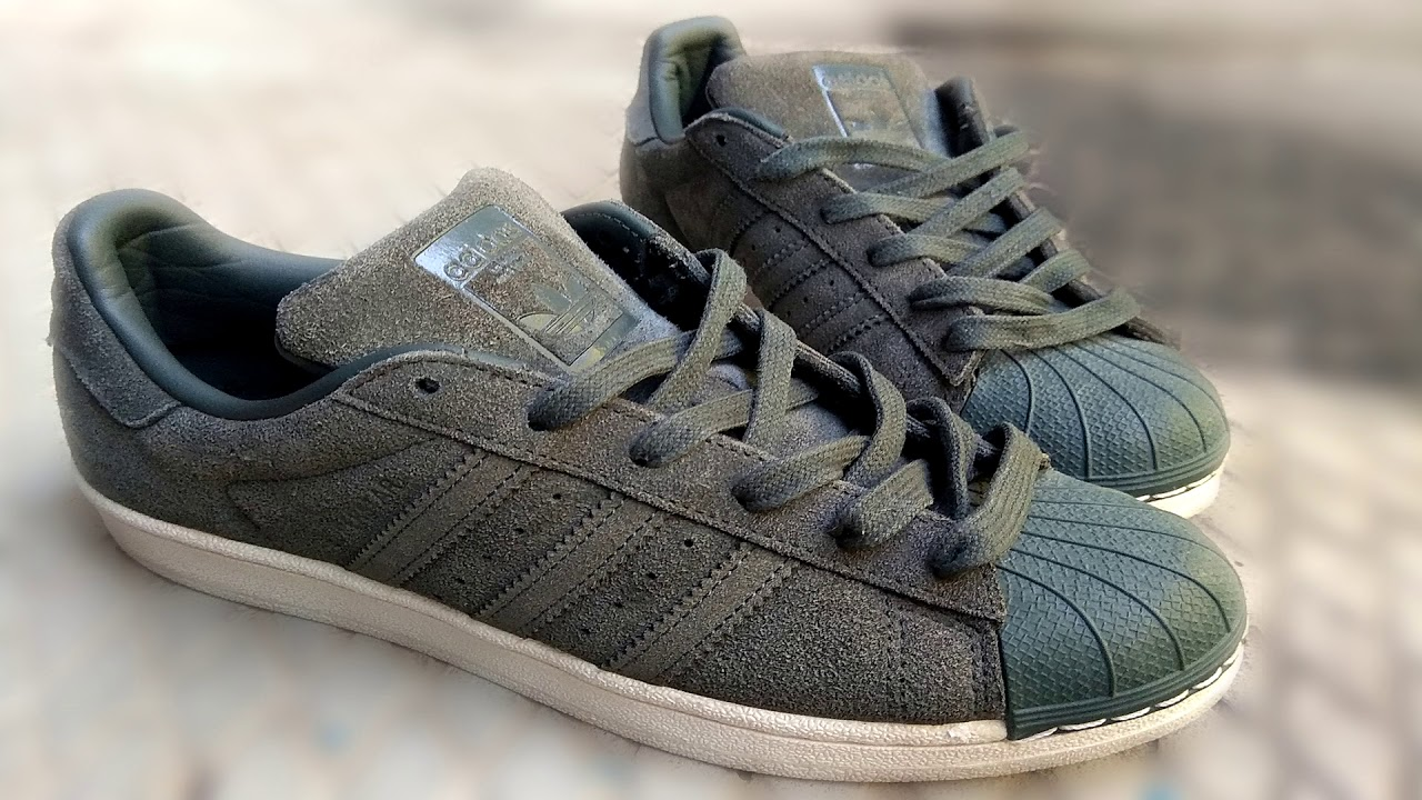 4d2a835b524a Adidas Superstar Green Night shoes - YouTube