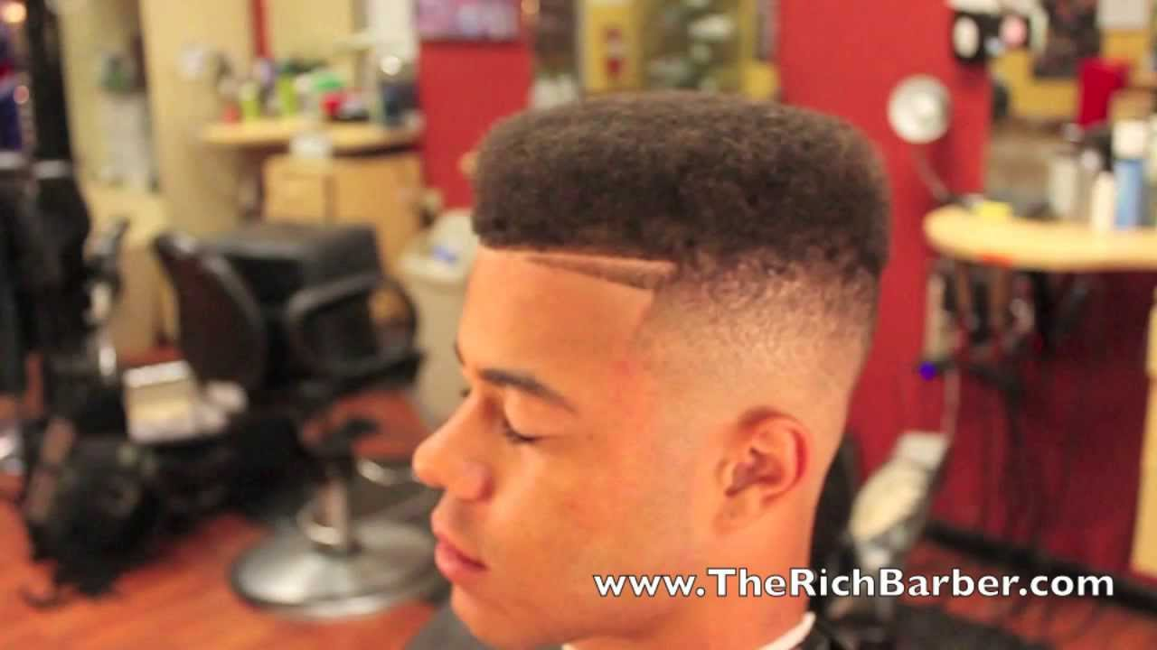Flat Top Haircut With Designs Fade Haircut