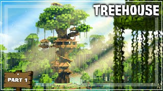Minecraft: How to Buİld a Treehouse - (Tutorial #1)