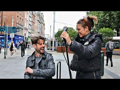 IMPROVISATION ON STREETS OF DUBLIN | Adele - Turning Tables | Allie Sherlock & David Owens