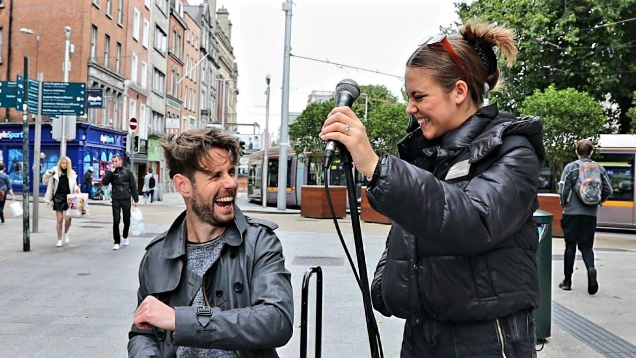 IMPROVISATION ON STREETS OF DUBLIN   Adele - Turning Tables   Allie Sherlock & David Owens
