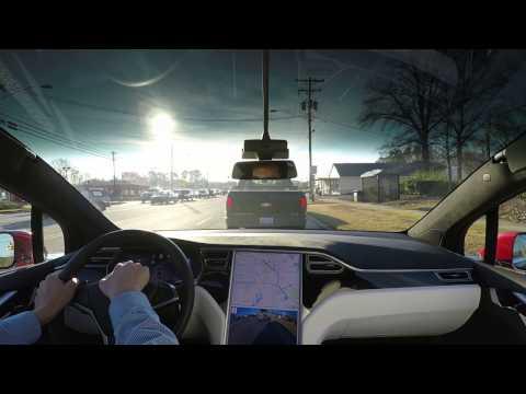 2. Tesla AP1 commute: Durham to Cary, North Carolina