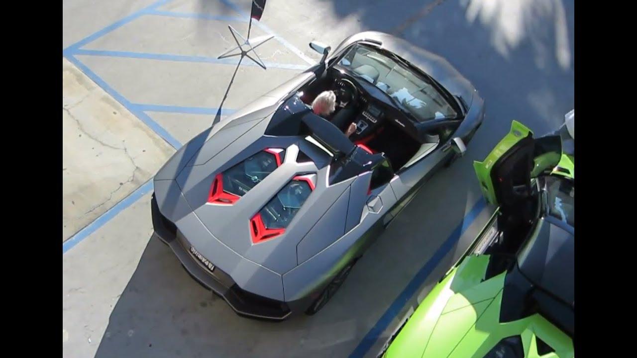 matte grey lamborghini aventador roadster