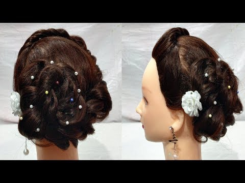 Beautiful Juda Hairstyles for wedding/party | Simple Hairstyles | hairstyles for girls | hairstyle thumbnail