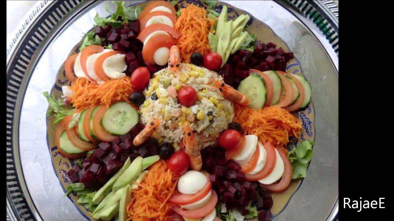 Idées pour décorer les salades افكار لتزيين السلطات - YouTube