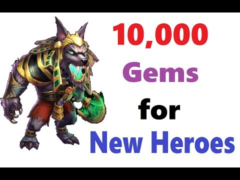 10k Gems Looking For New Heroes Duplicates Castle Clash TheBesty
