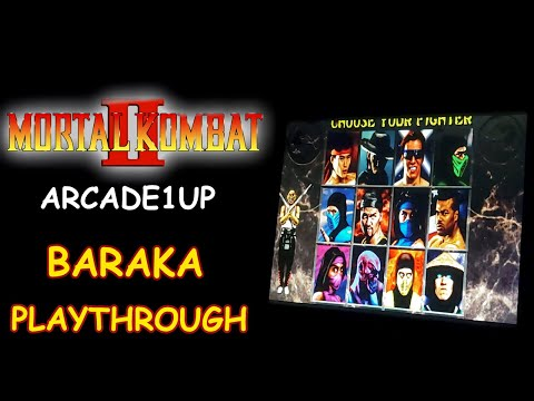 MORTAL KOMBAT 2 ARCADE1UP - BARAKA PLAYTHROUGH + ENDING // Lets Play from JDCgaming
