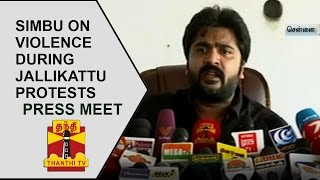 Simbu Addresses Media On Violence During Jallikattu Protests   FULL PRESS MEET   Thanthi TV
