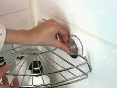 Shower Caddy Corner Shelf   Super Suction Power   YouTube