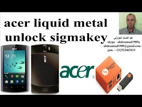 unlock acer liquid mt s120 liquid metal with sigma key