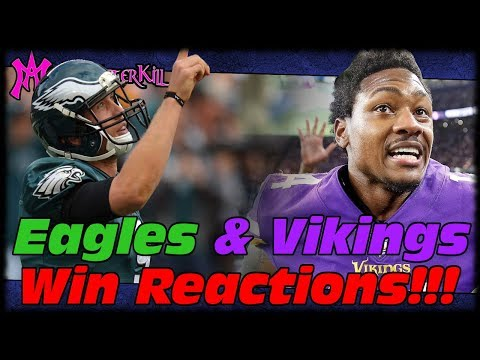 MAK's Reaction To Vikings vs Saints Last Minute Miracle & Eagles Going To NFC Championship!!!
