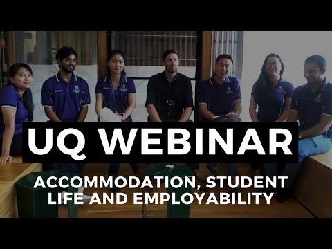 Webinar - accommodation, student life and employability