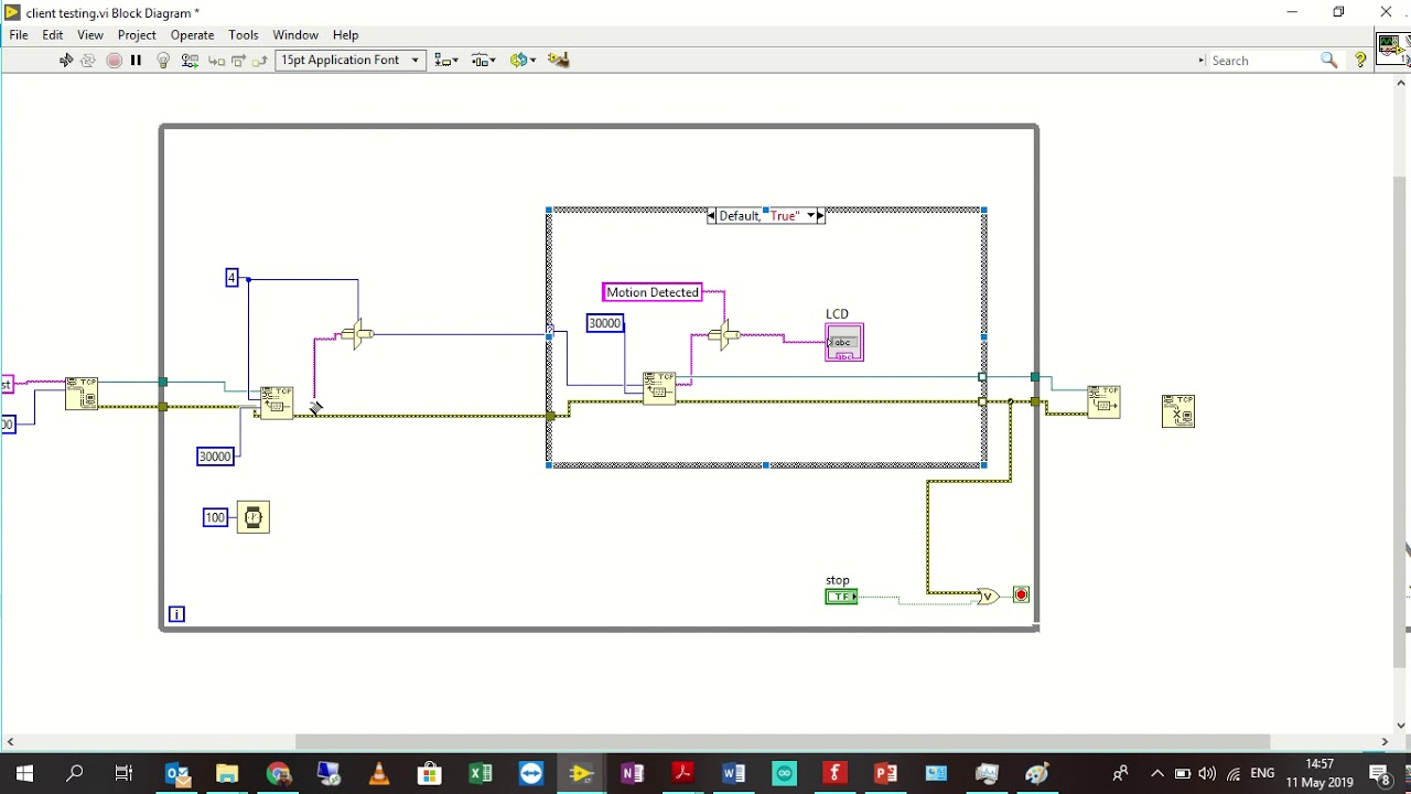 hight resolution of block diagram programming for tcp ip client motion sensor system