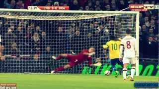 joe hart double save from ronaldinho penalty