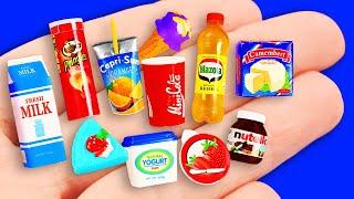 Miniature Food for Barbie! Миниатюрная еда & напитки для куклы Барби! 50 идей!
