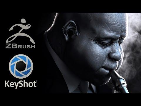Jazz  * Zbrush 4r7 + Keyshot 5 *  Timelapse modeling