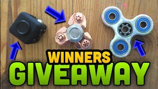 ANNOUNCING THE GIVEAWAY WINNERS!! FREE FIDGET TOYS!!
