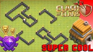 """New SUPER COOL Th6 Trophy/War Base - Anti-Giant """"The Unstoppable"""" Xmas Update 2016-Hybrid/Farm Loot"""