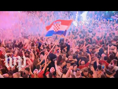 Croatia advanced to its first-ever World Cup final. Watch how fans celebrated. thumbnail