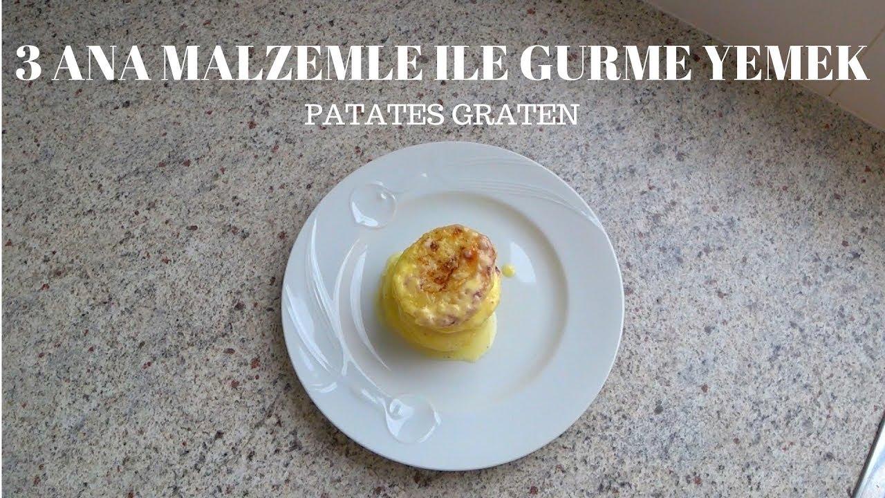 3 Ana Malzeme ile Gurme Yemek - Patates Graten | Yemek Tarifleri