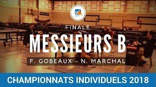 Messieurs B Finale Francois GOBEAUX - Nicolas MARCHAL