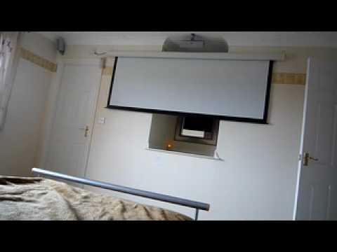 Electric Projection screen in bedroom  YouTube