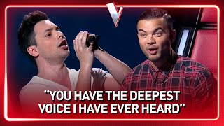 This guy's INSANE DEEP voice SHOCKS The Voice coaches | Journey #120