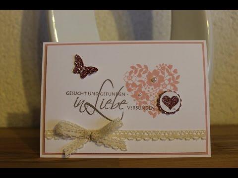 Schön Einladungskarte Zur Hochzeit Mit Stampin Up