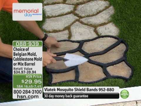 Do It Yourself Cobblestone Look Walkway Molds From