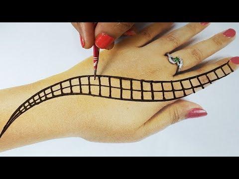 Simple Mehndi Design for Hands Step by Step - आसान गोल टिक्की मेहँदी डिज़ाइन लगाना सीखे - BeautyZing